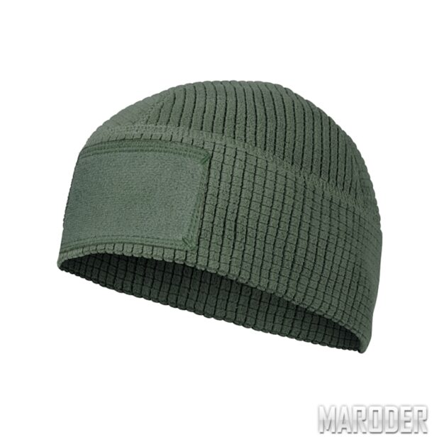 Шапка RANGE Beanie Grid Fleece Olive Green. Helikon-Tex